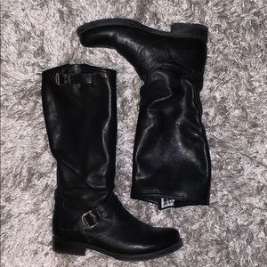 Black leather Frye Veronica boots, size 9